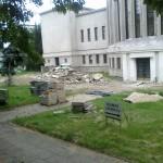 Betvarkė Čiurlionio ir Vytauto Didžiojo karo muziejaus aplinkoje